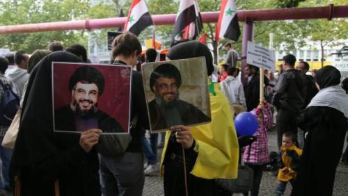 Protestors at Berlin's 2014 al-Quds Day demonstration