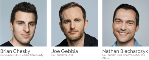 Airbnb co-founders