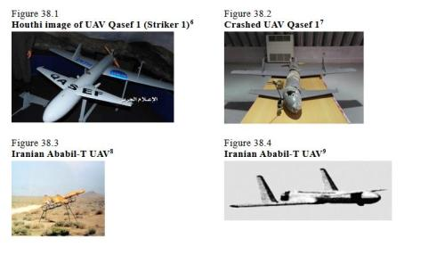 Comparison of Iranian and Houthi drones.