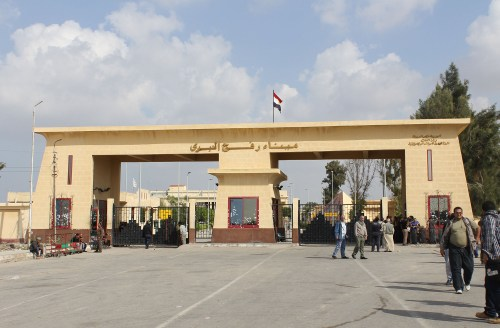 Gaza's Rafah Crossing into Egypt.