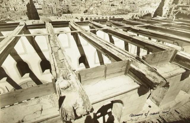 ancient wooden beams