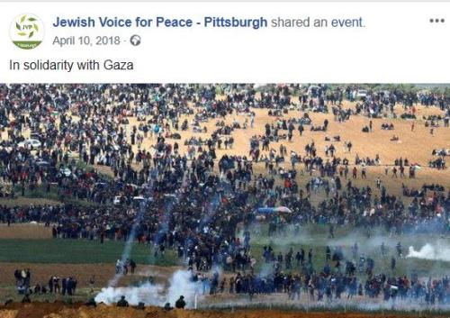 Jewish Voices for Peace event