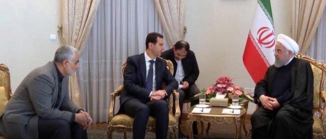 Qasem Soleimani, Bashar al-Assad, and Ali Khamenei