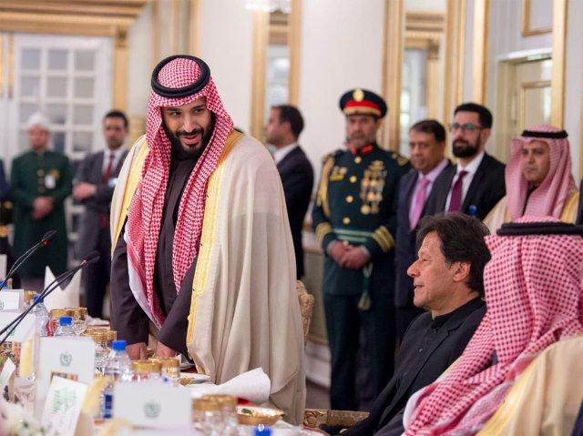Mohammed bin Salman and Prime Minister Imran Khan