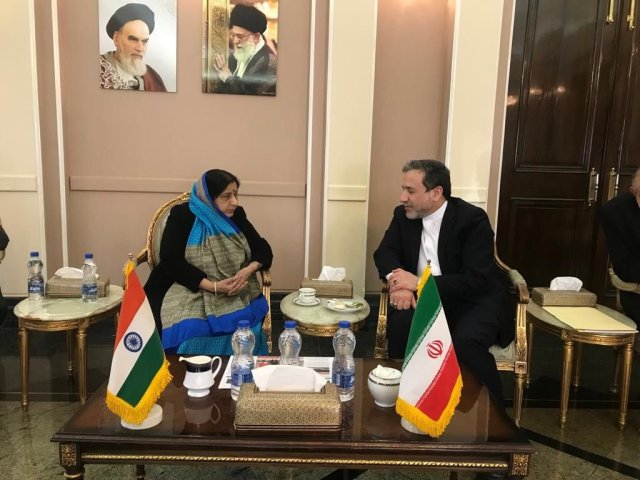 Sushma Swaraj with Seyed Abbas Aragchchi