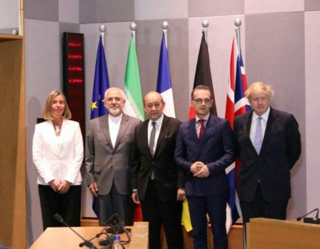 Zarif with EU High Rep & E3 ministers in Brussels