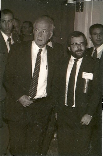 Lenny Ben-David with Yitzhak Rabin