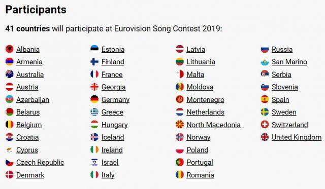 Eurovision participants