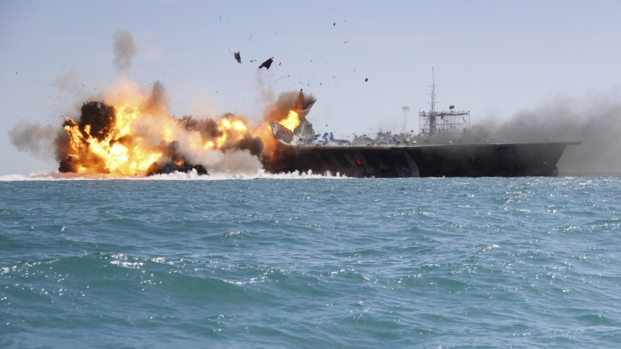 Iranian Revolutionary Guard Officials Threaten to Sink U.S. Naval Vessels