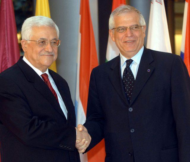 Josep Borrell, Mahmoud Abbas