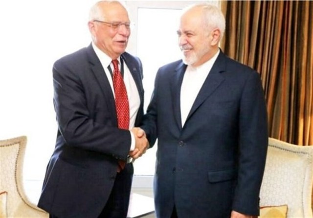 Josep Borrell with Mohammad Javad Zarif
