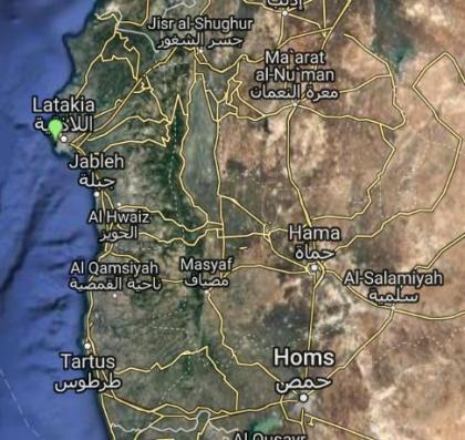 Latakia and Tartus ports in Syria