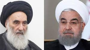 Al-Sistani of Iraq (left) and Rouhani of Iran