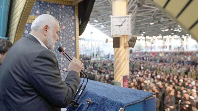Ismail Haniyeh eulogizes Soleimani in Tehran