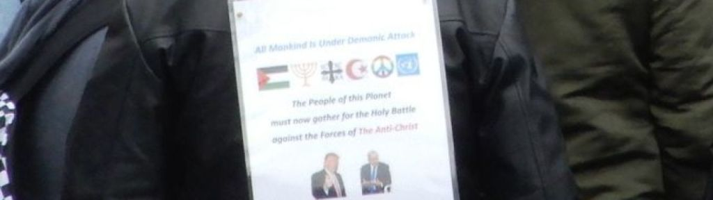 "Toronto protest: ""Holy Battle against the Forces of The Anti-Christ"" Israel and US"