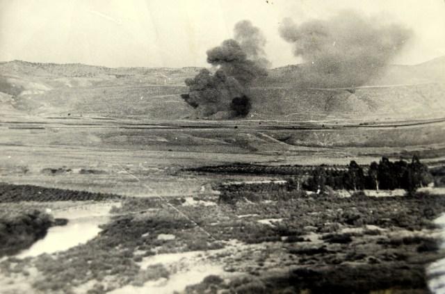 An Israeli air raid