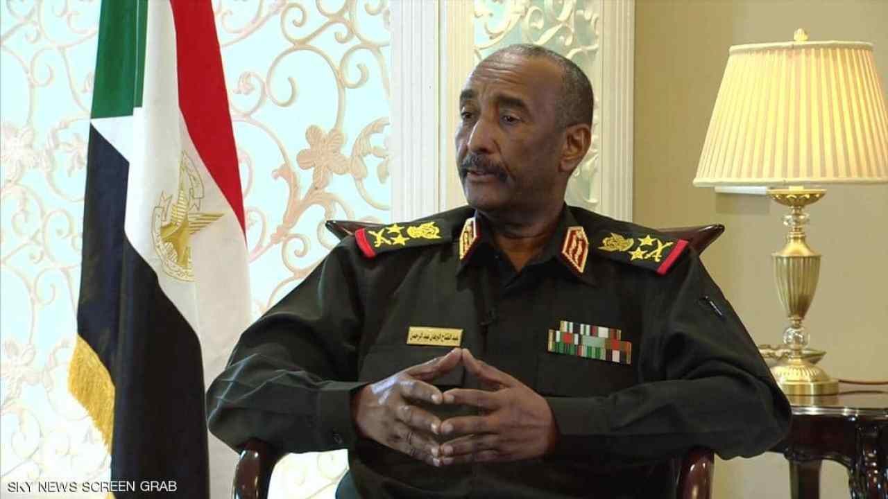 The Transitional President of the Sudanese Council of Ministers, General Abdel Fattah al-Burhan (Screen grab)