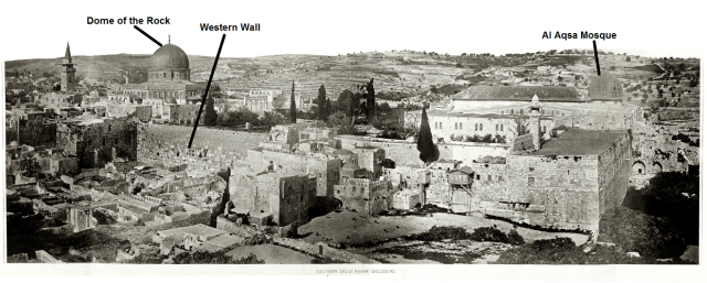 The southwest corner of the Temple Mount compound