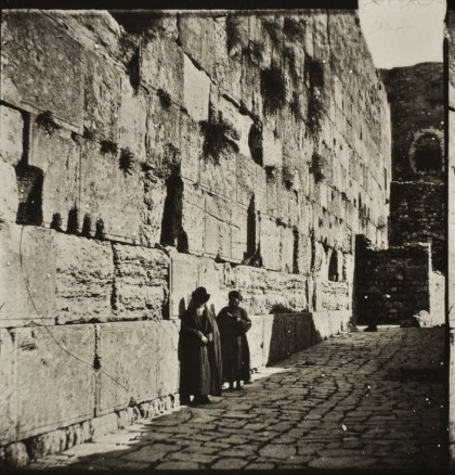 Jewish worshipers at the Western Wall