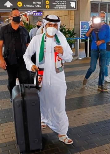 Emirati singer Walid al-Jasem arrived at the Ben Gurion Airport