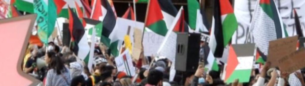 """Toronto protesters: """"Jews, remember [the Battle of] Khaybar"""""""