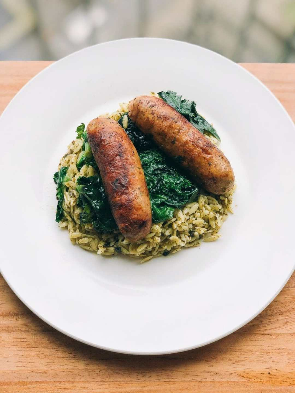 Smoked Mozzarella + Broccoli Rabe Turkey Sausage Bowl by JC Phelps (JCP Eats)