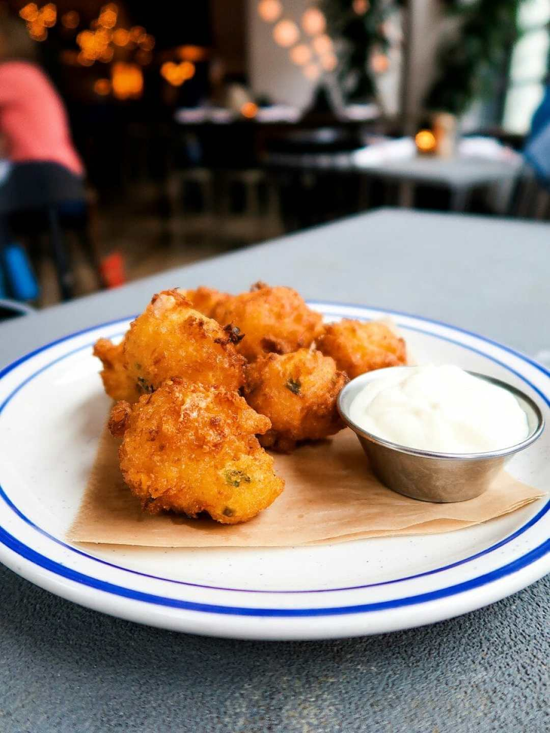 Lump Crab Hush Puppies at Porch Kitchen and Bar, Downtown Louisville, KY