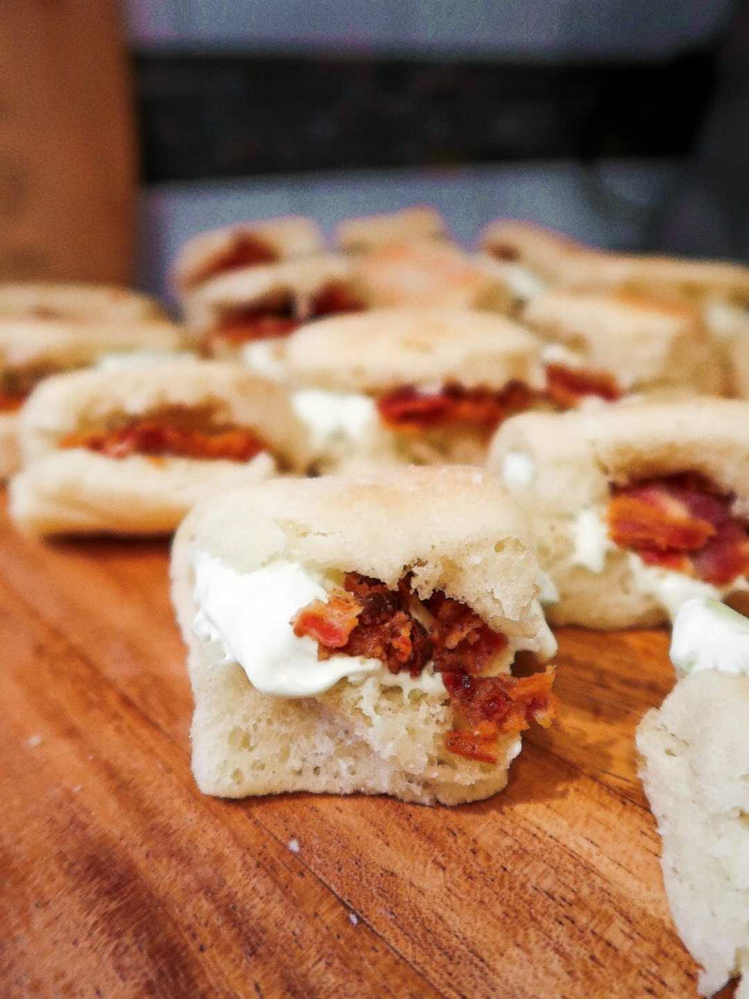 Homemade Benedictine and Bacon Sliders - JCP Eats