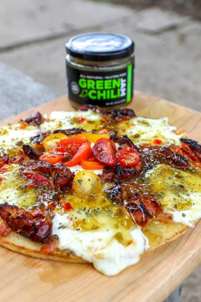 Green Chili Jam - Bacon Date Pizza