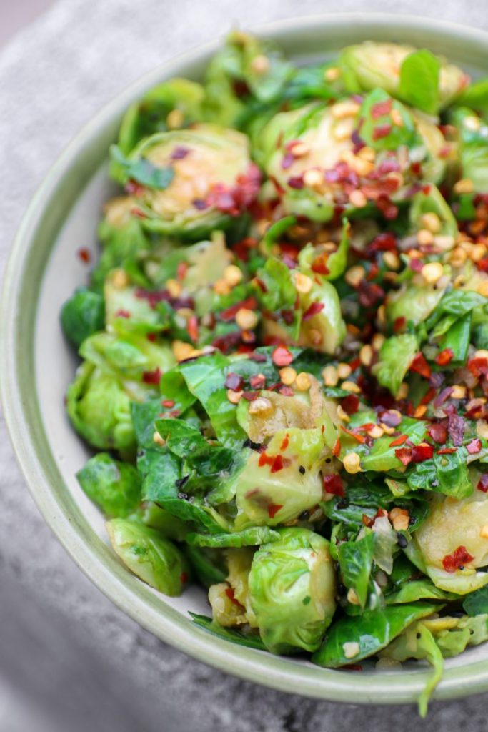 Asian Ginger Brussels Sprouts