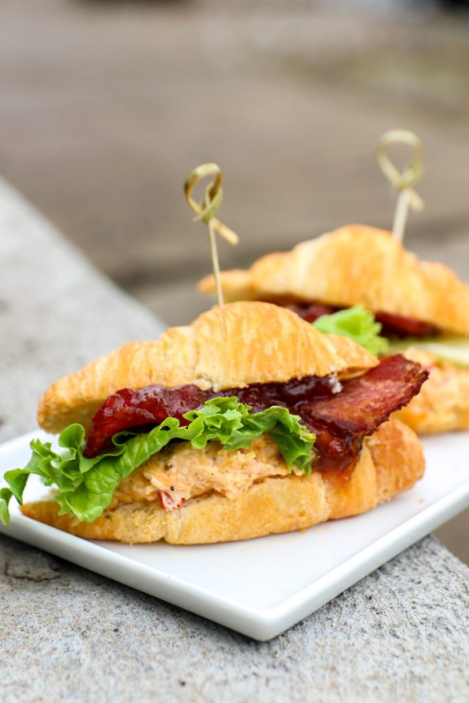 Bacon and Pimento Cheese Sliders