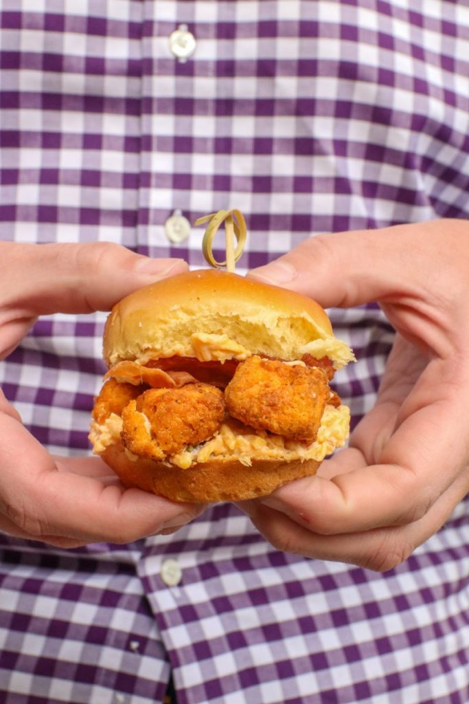 Fried Chicken Pimento Cheese Sliders