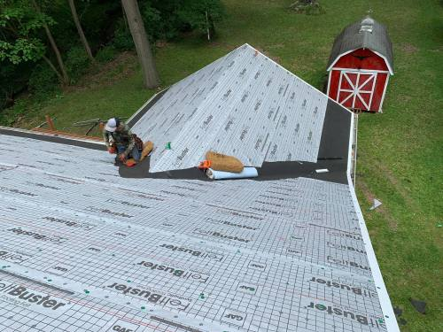 Charcoal roof install