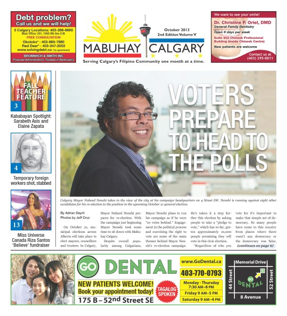 2013 November Edition of Mabuhay Calgary