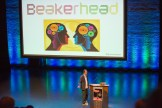 An Optimistic Evening with Mark Stevenson. Mark Stevenson thanking Beakerhead.