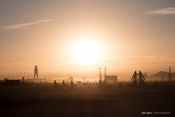 The sun rising over the Playa is one of the most amazing things I've ever seen.