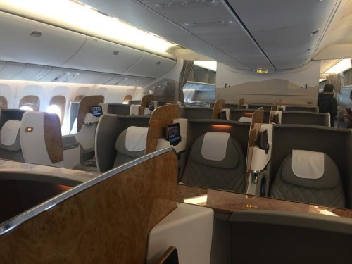 Business class on Emirates from Newark to Dubai