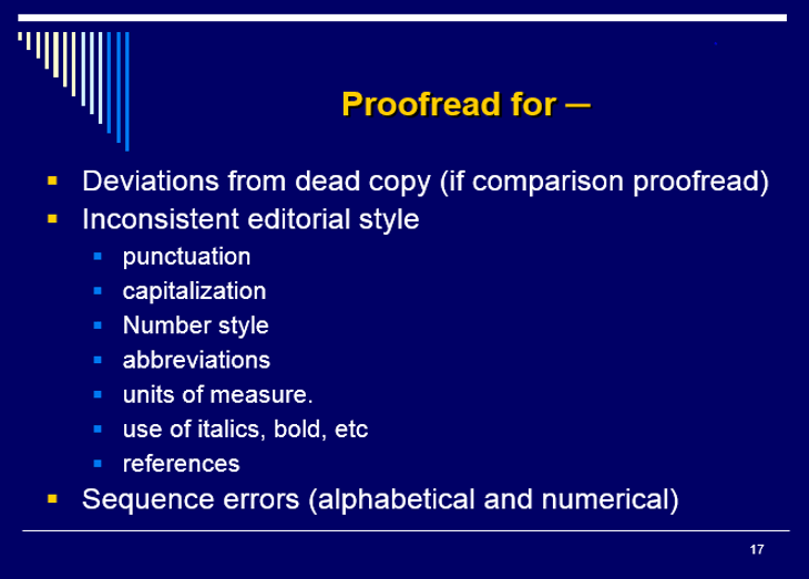Proofreading golden rules