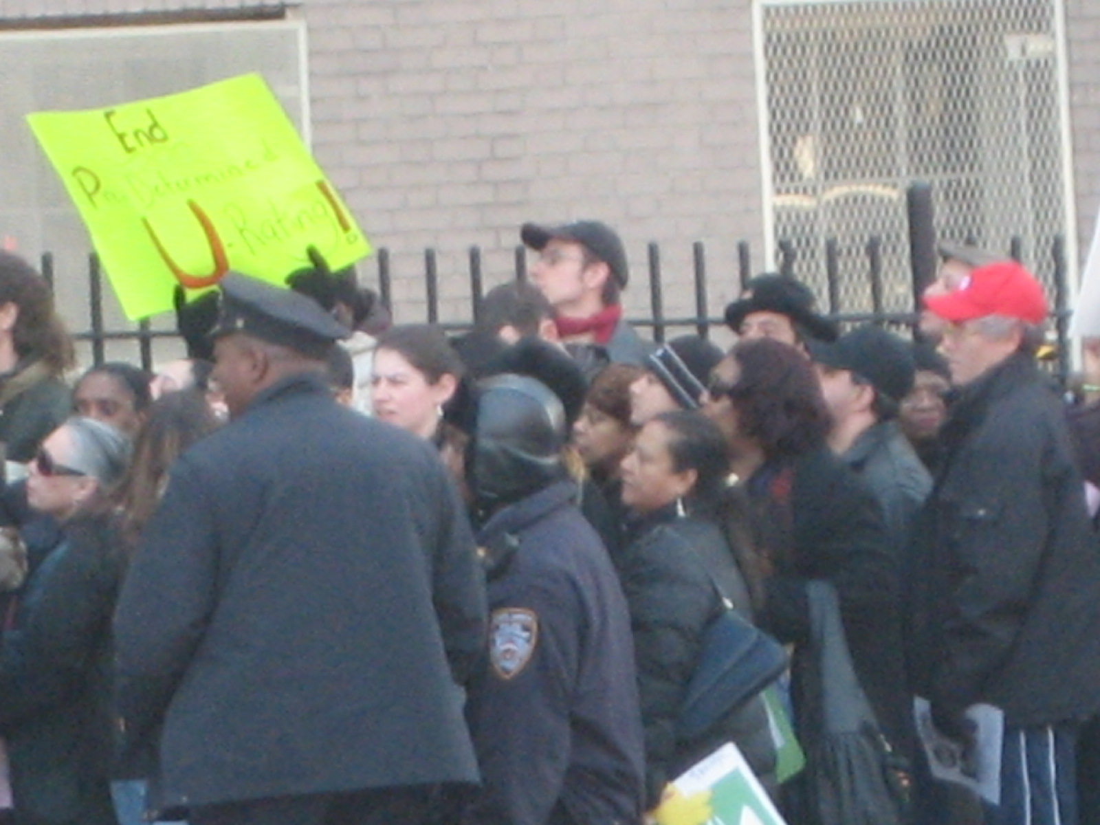 Protesters from scores of Bronx HSs converge on the Fordham HS for the Arts