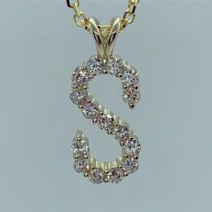 Pendant - Diamond initial pendant