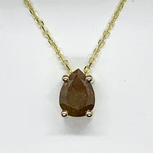 Pendant - Large natural diamond pendant