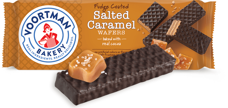 Fudge Coated Salted Caramel Wafers