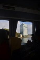 Hotellet vi bodde på, sett från båten.