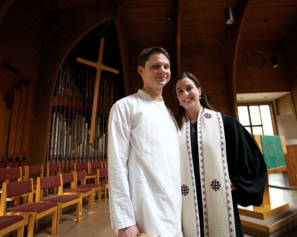 Fred and Dana at Binkley Baptist Church in Chapel Hill, NC. Photo by Franklin Golden