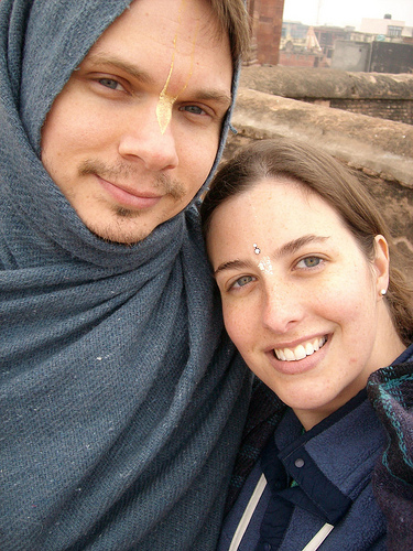 Fred and Dana on their honeymoon in India.