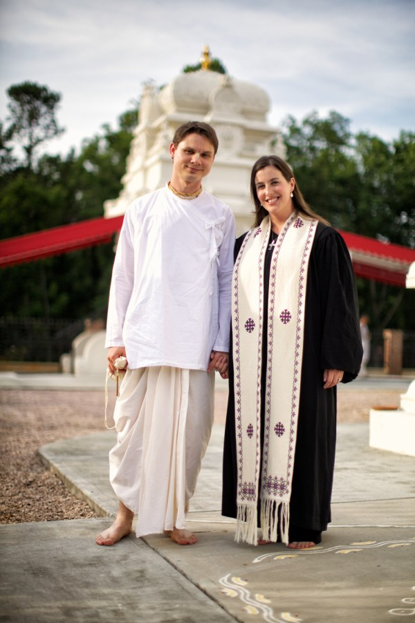 Fred and Dana at the Sri Venkateswara Temple in Cary, NC. Photo by Franklin Golden