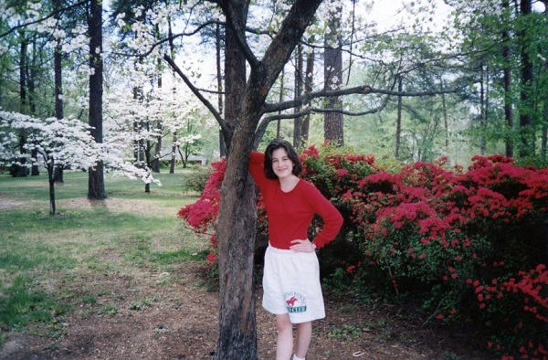 Spring is in the air? I'm rocking white shorts AND white legs, circa 1995.
