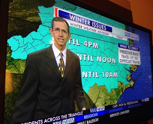 "The ""catastrophic winter issues"" of last Sunday, courtesy of WRAL, our local CBS affiliate."
