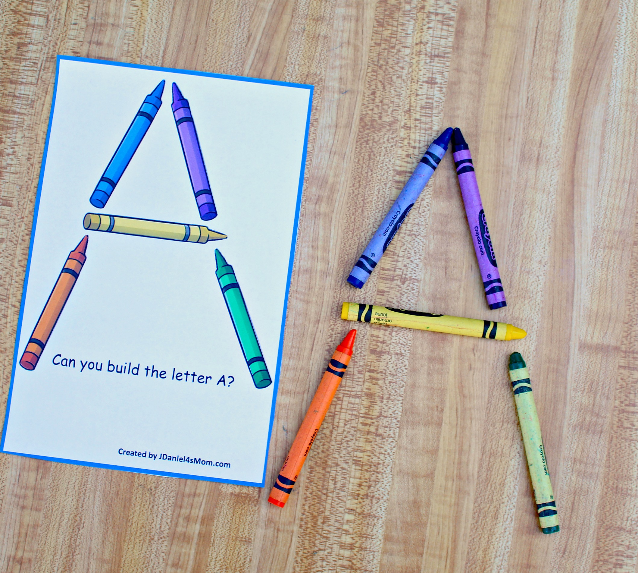 Learning Letters With Crayons Printable Task Cards