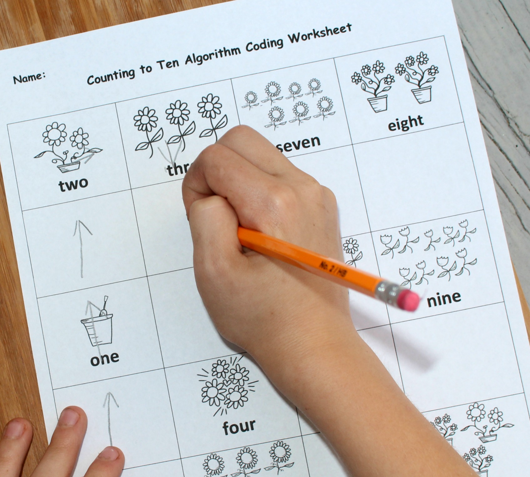 Numbers 1 10 Editable Coding For Kids Worksheet